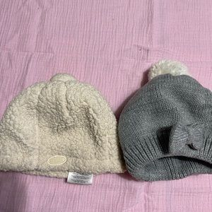 JJ Cole infant hat and gray bow hat